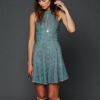Free People Trailing Crescent Chambray Dress