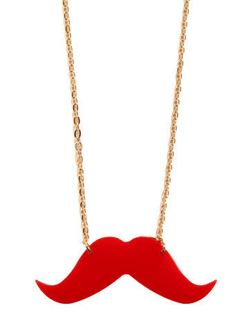 GYPSY WARRIOR - Red Mustache Necklace