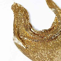 Vintage Gold Scarf Necklace - Urban Outfitters