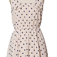 Double Spotted Ivory Dress
