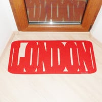 Floor mat LONDON. Welcome mat. Decor your entry. Customizable