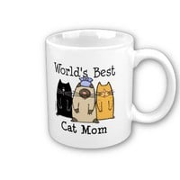 World&#x27;s Best Cat Mom Mugs from Zazzle.com