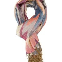 Metallic Woven Chevron Scarf by Charlotte Russe - Multi