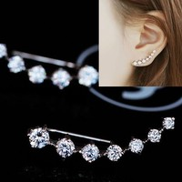 String of Shines Rhinestone Ear Cuff Pins