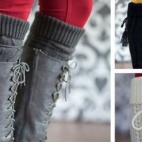 Tall Tie Boot Socks - Super Comfy and Warm!!