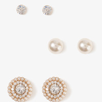 Sparkling Circle Stud Set