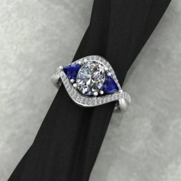 Custom diamond ring - design by Elegant Jewelers