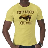 VINTAGE Honey Badger Don't Care T-shirt from Zazzle.com