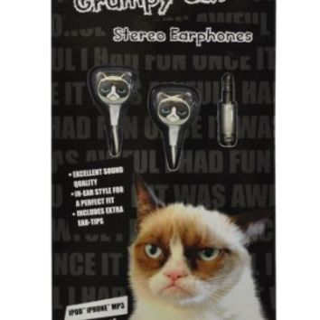 Grumpy Cat GC-EP-01 In-Ear Molded Stereo Earphones for MP3