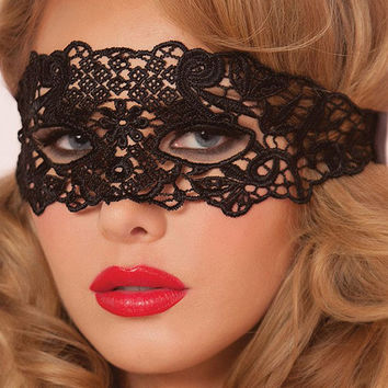Sexy Black Lingerie Lace Mask Ships from NYC in 24hrs