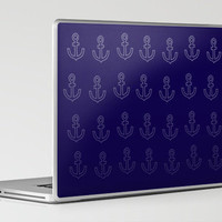 Anchors Aweigh! Laptop & iPad Skin by Leah Flores | Society6