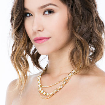 Three Chainz Faux Leather Necklace
