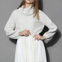 Whimming Turtleneck Sweater in Grey