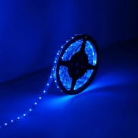 LE Lampux 12V Flexible LED Strip Lights, LED Tape, Blue, 300 Units 3528 LEDs, Non-waterproof, Light Strips, Pack of 16.4ft/5m