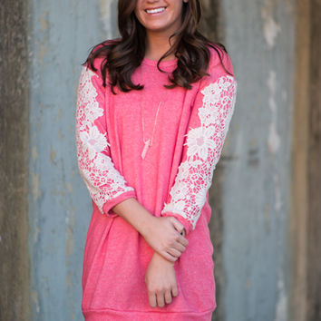 Simply Sweet Tunic, Coral