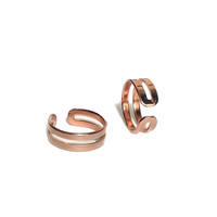 love double knuckle ring rose gold