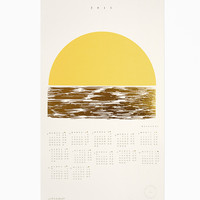 2015 Golden Weekends Calendar - Letterpress and Gold Foil - Julia Kostreva