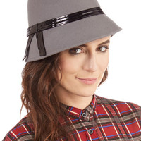 The Cloche Is Ticking Hat in Grey | Mod Retro Vintage Hats | ModCloth.com