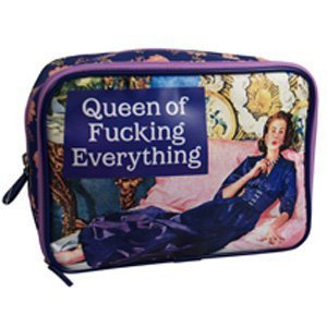 Make Up Bag - Queen of F*****g Everything: Amazon.co.uk: Kitchen & Home