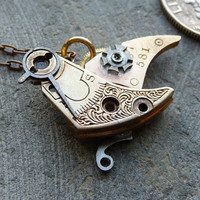 Clockwork Bird Sea Bird Recycled Elegant by amechanicalmind