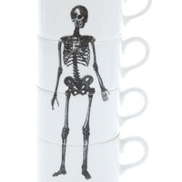 Phoebe Richardson Stackable Skeleton Coffee Mugs - Wolf & Badger - farfetch.com