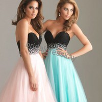 sweetheart tulle evening dress,prom dress,evening gowns