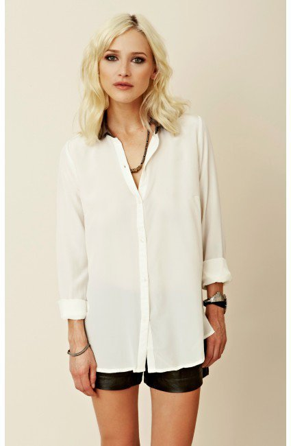By Zoe - Glitter Button-Down Shirt