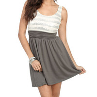 Sequin Knit 2fer Dress | Shop Dresses at Wet Seal