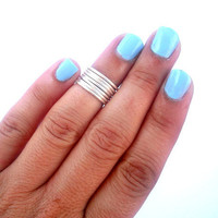 7 Above the Knuckle Rings -    Above Knuckle Ring - Stackable Rings - Set of 7  by Tiny Box