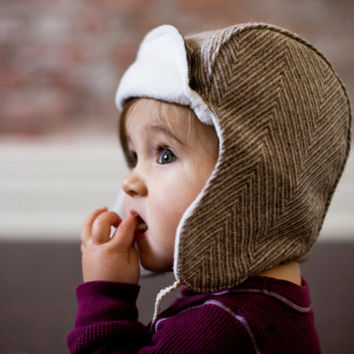 Wee Wool Bomber Hat for Baby Toddler Kids - Made to Order