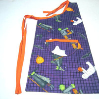 Childs Spooky Halloween  Apron featuring ghosts and Goblins by Sewinggranny