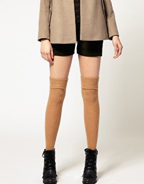ASOS Wool Cable Over The Knee Socks at asos.com