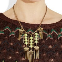 Lulu Frost | Tobay Beachcomber gold-plated chrysoprase necklace | NET-A-PORTER.COM