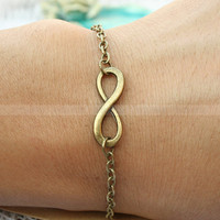 Karma bracelet-vintage karma bracelet-infinity wish bracelet