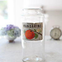 Antique French Sirop de Mandarine Jar