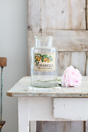Antique French Apothecary Jar Mirabelle