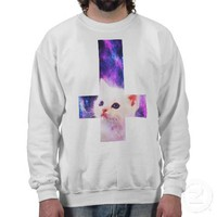 Inverted Cross &amp; Galaxy Kitten Sweatshirt from Zazzle.com