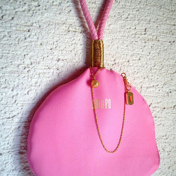 Unique Faux Leather Handbag Baby Pink  - The Braided Perfume