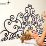 headboard flowersart Graphic decor Vinyl wall stickers by ccnever