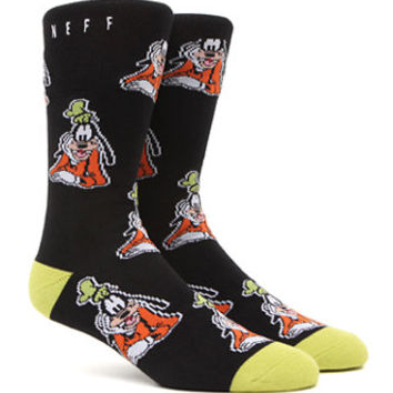 Neff Goofin Around Crew Socks  Mens Socks  Black  One