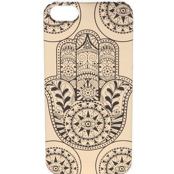 With Love From CA Golden Hamsa iPhone 5/5S Case - Womens Scarves - All Gold/ Black - One
