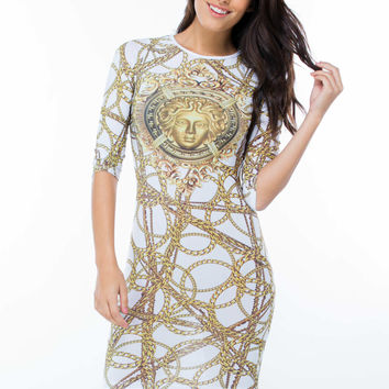 Medal To Medal Bodycon Dress