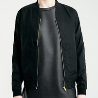 Black Shawl Collar Bomber Jacket - Topman