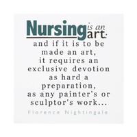 Nursing is an Art Graduation Announcement from Zazzle.com