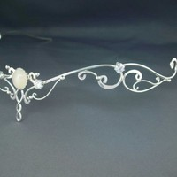 Moonlight Circlet Wedding Bridal Celtic Elven Medieval Fairytale Renaissance Headpiece Headdress Tiara