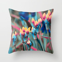 Floral abstract(12). Throw Pillow by Mary Berg