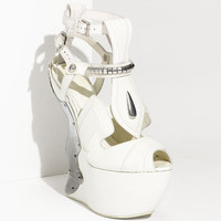 Alexander McQueen Metal Wedge Sandal