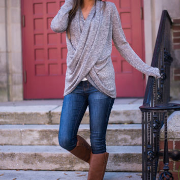 Wrapped Love Top Taupe