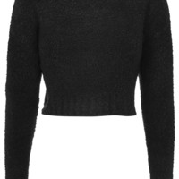 Boucle Knit Cropped Sweater - Topshop