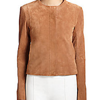 The Row - Spiketon Suede Jacket - Saks Fifth Avenue Mobile